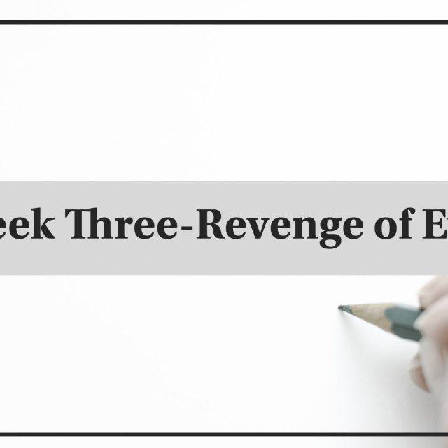 Week Three List Challenge-Revenge of Eve